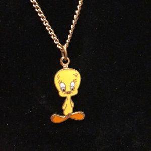 Gold Tweetie Necklace